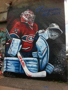 Art de rue, Canadiens de Montréal , (sous l'Échangeur Turcot), Artiste inconnu Montreal Canadiens, Sports, Ice Hockey, Paint, Sport