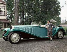 Jean Bugatti naast de Bugatti Royale 'Esders' Roadster, 1932.