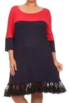Rouge Women Plus Size 2x 3x 4x Maxi Long Chevron Summer Sun T Shirt Dress Red