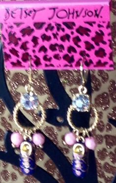 Betsy JOhnson Earrings. Comes with free Jewelry By PeleTani.