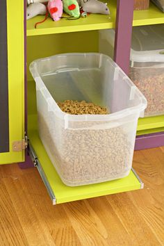 Pet food storage ideas