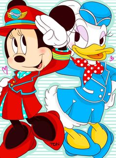 minnie mouse and daisy duck airlines ;-)