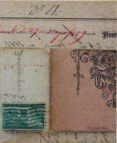 carnet, timbre et vieux papiers