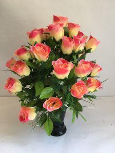 Fleur artificielle arrangement GRAVE POT Spike Memorial Chrysanthème Bouquet