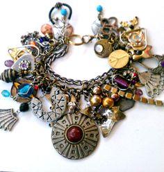 Found-Object+Art/Images | Assemblage Bracelet - Found Object - Altered Art - Rocker - Gypsy ...
