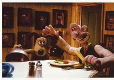 Wallace and Gromit and The Curse of the Were Rabbit Eating 8 x 10 Photo