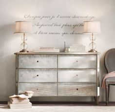 """French Verse Wall Decal """"Each day I love you more, Today more than yesterday and less than tomorrow."""""""
