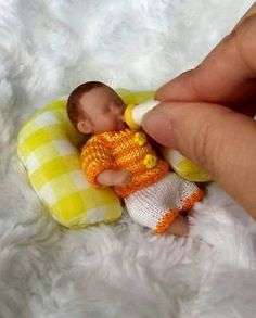 OOAK hand SCULPTED dollhouse 1:12 newborn BABY boy ART doll NOT toy miniature