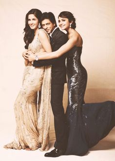 Katrina, SRK and Anushka - promotional shot for Jab Tak Hai Jaan (2012)