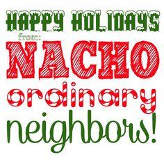 Fun free printables for Christmas neighbor gifts.