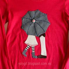 ♥ Noly Gil: ♥ Costura: conjunto de camiseta, bufanda tubular, bolso acolchado y llavero de tulipanes.