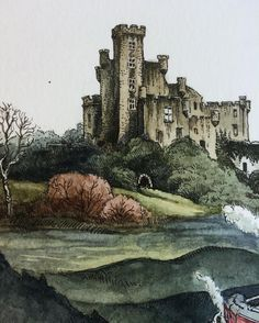 1,555 отметок «Нравится», 20 комментариев — Lily Seika Jones (@rivuletpaper) в Instagram: «A close up of my ink and watercolor study of #dunvegancastle // stay tuned for the completed work…»