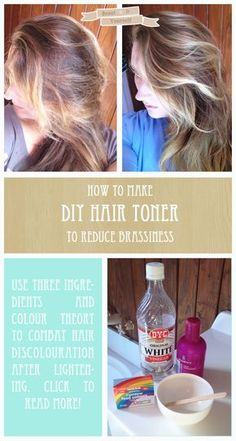How to make your own hair toner to combat brassy hair, with three cheap ingredients. Leaves your hair soft and shiny!