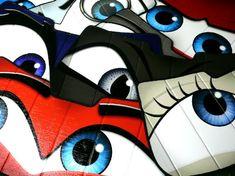 Eyeshades Custom eyes for your car image 3 Blue Mini Cooper, Mini Cooper Models, Fire Eyes, Cute Car Accessories, Custom Eyes, Benz C, Car Colors, Car Makes, Cute Cars