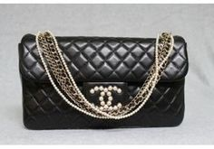 pristine (PR) Chanel Black Quilted Lambskin Westminster Pearl Flap Bag on shopstyle.com