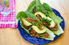 Crock-Pot Carne Asada Lettuce Wraps by:So...Let's Hang Out. Scannell kitchen tested and approved! <3