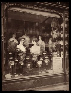 Shop for Paris, 1912 - Hairdresser'S Shop Window, Boulevard De Strasbourg by Eugene Atget Architecture Art Print. Get free delivery On EVERYTHING* Overstock - Your Online Art Gallery Store! Vintage Paris, Old Paris, Paris 1920s, Vintage Store, Retro Vintage, Eugene Atget, Belle Epoque, Vintage Pictures, Vintage Images