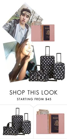 """I'm sorry baby but I'm leaving you ~Rachel"" by elizabeth-anons ❤ liked on Polyvore featuring Rockland Luggage and Royce Leather"