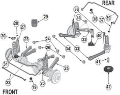 The 24 best Jeep Liberty KJ Parts Diagrams images on