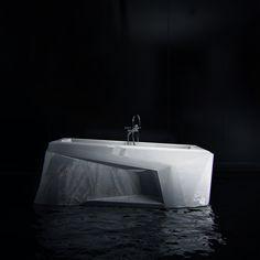 Arctic bathroom by KO+KO architects , via Behance