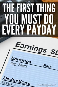 What You Must Do Every Single Pay Day