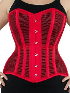 9024cab5944 Limited Edition Mesh Overbust Red Corset (CS-511)