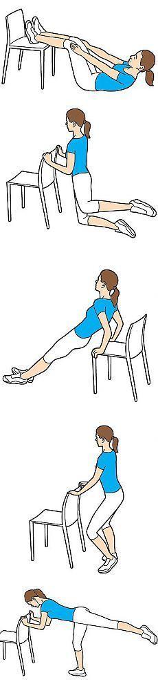 Короткая тренировка со стулом. Комплекс упражнений для всего тела, для выполнения которого тебе понадобится оригинальный инвентарь - обычный стул.