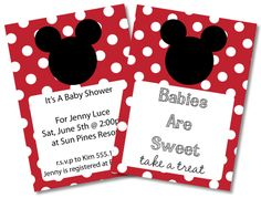 FREE Mickey Mouse Baby Shower Invitations U0026 Clipart   Minnie Mouse Too!