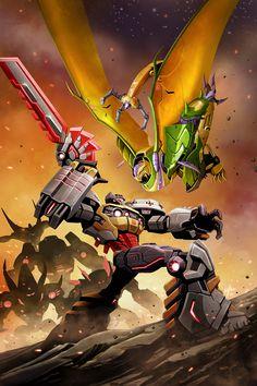 xombiedirge:  Rage of the Dinobots #4 by Ken Christiansen