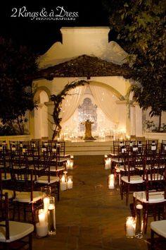 enchanting evening wedding... love it!!