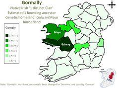 Gormally   Irish Origenes: Use Family Tree DNA to Discover Your Genetic Origins   Clans of Ireland   Irish Surnames Map