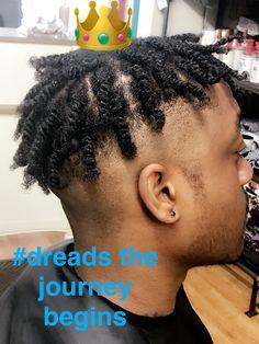 My starter locs. The journey began Black Men Haircuts, Black Men Hairstyles, Cool Hairstyles For Men, Short Hair Twist Styles, Braid Styles For Men, Curly Hair Styles, Mens Twists Hairstyles, Dreadlock Hairstyles, Curly Hair Men