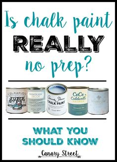 Learn how and when to prep furniture before painting with chalk paint.