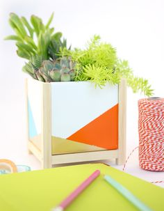 DIY Desktop Tile Planter