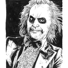 BROTHERTEDD.COM - Beetlejuice by Jeremy Haun Beetlejuice, Joker, Death, Fictional Characters, Art, Beatle Juice, Art Background, Kunst, Gcse Art