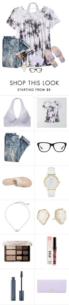 """""""Ready For Some Sunshine, For My Heart To Take A Chance"""" by bowbeauty01 ❤ liked on Polyvore featuring Victoria's Secret, American Eagle Outfitters, J.Crew, Ralph Lauren, Jack Rogers, Kate Spade, Kendra Scott, Too Faced Cosmetics, Almay and Lodis"""