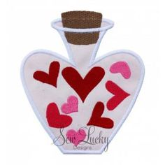Love Bottle with Hearts