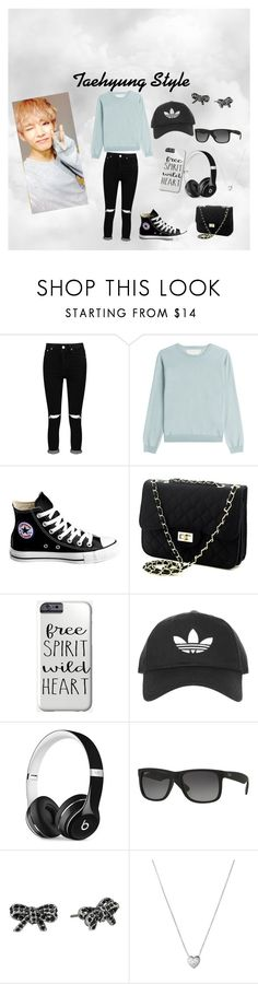 """Taehyung Style"" by michelle-horan-28 ❤ liked on Polyvore featuring Boohoo, RED Valentino, Converse, Topshop, Beats by Dr. Dre, Ray-Ban, Marc Jacobs, Links of London, Hipster and bts"