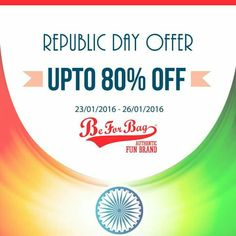 Wishing everyone a very Happy Republic Day!! Visit www.beforbag.co.in and get upto 80% off on our bags collection. Last day to avail the offer! Hurry!!  #bags #beforbag #republicday #discounts #offers #slingbags #totebags #backpacks #wallet