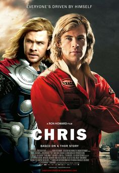 CHRIS / The schizophrenic 1970s rivalry between James Hunt and Thor. Who's the real Chris?