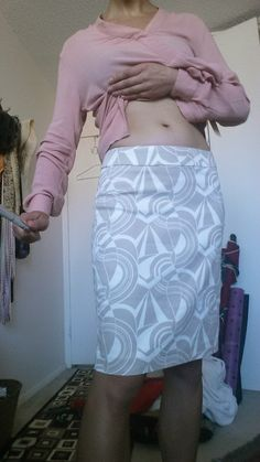 Lavana Printed Pencil Skirt, where is this supposed to sit? On the hips or the waist?