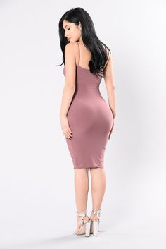 Available in Red Bean, Black, Slate Blue and White Double Layer Tank Dress Spaghetti Strap Deep V Neckline Midi Length Fitted Made in USA Polyester Spandex Tight Dresses, Club Dresses, Satin Dresses, Sexy Dresses, Short Dresses, Summer Dresses, Curvy Outfits, Dress Outfits, Fashion Outfits