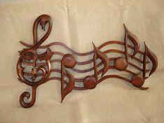 Notas musicales notas de madera personal con notas muestra