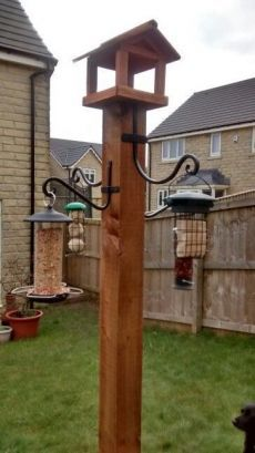 DIY Bird Feeding Station Do you love watching birds in your yard? Do you want to attract birds to that yard? It is fascinating to watch them building nests and … Keep Your Feathered Friends Happy READ Bird House Feeder, Hanging Bird Feeders, Diy Bird Feeder, Bird Feeder Poles, Pinecone Bird Feeders, Squirrel Feeder Diy, Bird Feeder Hangers, Garden Bird Feeders, Bird Bath Garden