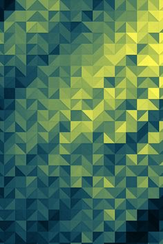 Polygon Dark Triangle Background Green Pattern #iPhone #4s #wallpaper