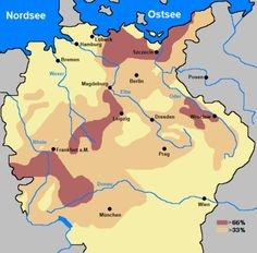Reduction in population of the Holy Roman Empire during the Thirty Years War