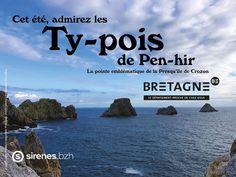 """Découvrez toutes les appropriations des acteurs du tourisme bretons dans le cadre de la campagne """"Dépaysez Vous en Bretagne"""".  Création : Vedettes Sirènes  #DepaysezVousEnBretagne Le Point, Showgirls, Frames, Rural Area, Brittany, Tourism"""