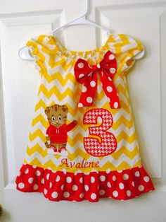 Daniel Tiger Birthday Dress
