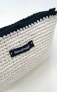 Virkattu vetoketjupussi + OHJE Tote Bag, Embroidery, Knitting, Crochet, Gifts, Bags, Inspiration, Beauty, Crocheting