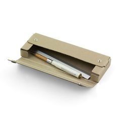 Pulp Storage Pen / Pencil Case by Midori - Beige